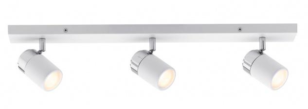 Paulmann 603.37 Spotlight Zyli IP44 Balken 3x3, 5W GU10 Weiß/Chrom 230V Metall
