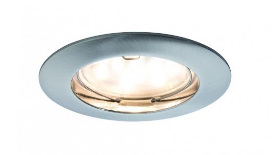 Paulmann Premium Einbauleuchte Set Coin dimmbar klar rund st LED 1x7W 2700K 230V 51mm Eisen gebürstet/Alu Zink
