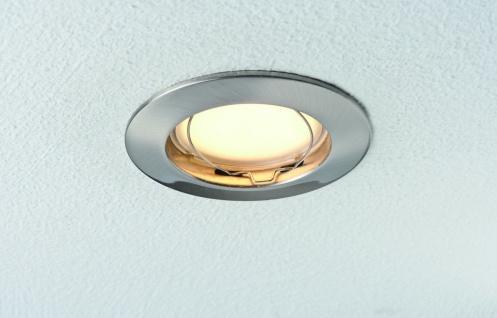 Paulmann Premium Einbauleuchte Set starr Energiesparlampe 3x11W 230V GU10 51mm Eisen gebürstet/Alu zink