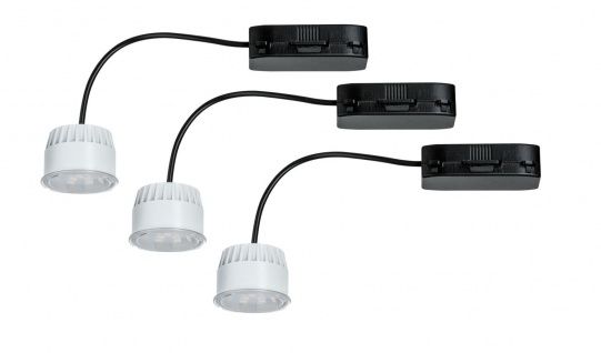Paulmann 2Easy Einbauleuchte Basis-Set Coin Leuchtmittel klar LED 3x6, 8W 2700K 230V 51mm Klar/Kunststoff
