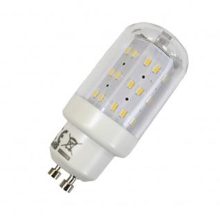 LED Leuchtmittel 4W GU10 3000K Warmweiss 230V 400lm Klar, Zylinder Form, Raumlicht, 270 Grad, Maxiflood, ersetzt 40W Halogen