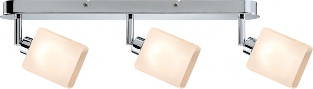 Paulmann 603.04 Spotlights Quad LED Balken 3x3W GZ10 230V Chrom/Weiß Metall/Glas