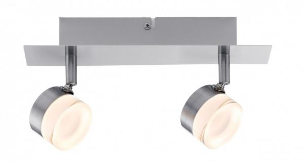 Paulmann 603.78 Spotlight Slice LED 2x4, 3W Eisen gebürstet 230V Metall