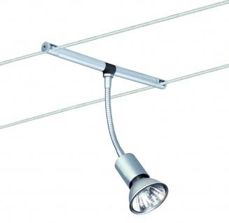 Paulmann Seil- und Schienensystem 2Easy Spot Basil 5x20W GU5, 3 Chrom matt 12V Metall - Vorschau 4