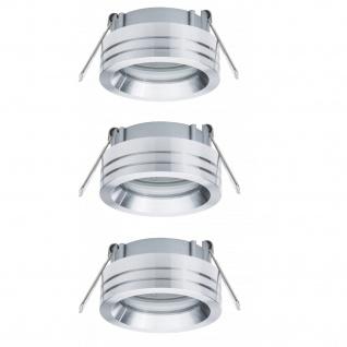 Paulmann 2Easy Premium Einbauleuchte 3er Spot-Set Curl schwenkbar 51mm Alu
