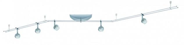 Paulmann Schienensystem Globe 5x20W GU4 Chrom 230/12V 105VA Metall