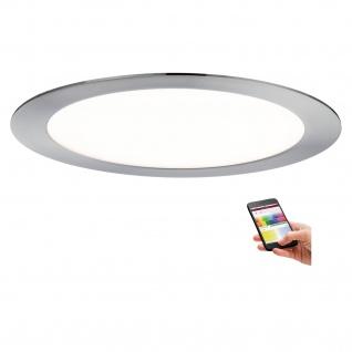 Paulmann Premium Einbauleuchte Set SmartPanel RGBW rund LED 1x3, 5W 12VA 230V/350mA 220mm Eisen gebürstet
