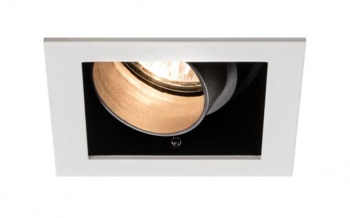 Paulmann Premium Einbauleuchte Daz eckig schwenkbar 1x5W LED Modul 230V Weiß m./Schwarz 926.82.1.LED