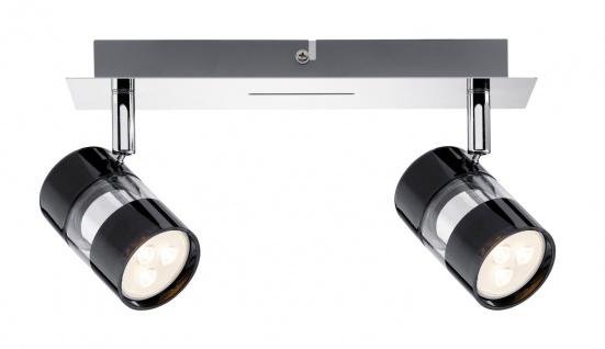 Paulmann Spotlight Nevo LED Balken 2x3, 5W GU10 Schwarz/Chrom 230V Metall