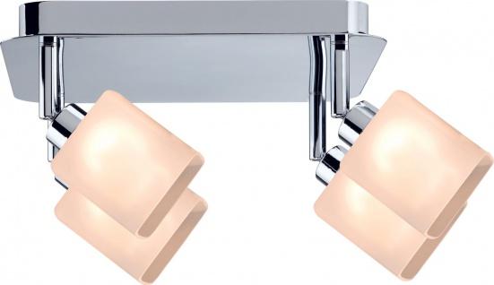 Paulmann 603.05 Spotlights Quad Rondell 4x3W GZ10 230V Chrom/Weiß Metall/Glas