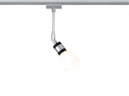 Paulmann 953.07 URail Schienensystem LED Spot Titurel II 1x2, 2W G9 Chrom matt/Chrom 230V Metall/Glas