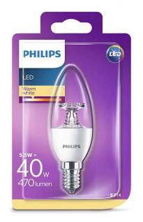 Philips 8718696454770 E14 LED Kerzenform Leuchtmittel 5, 5W ~ 40W
