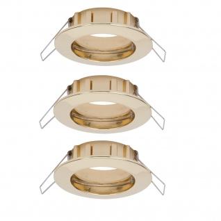 Paulmann 997.41 2easy Premium Einbauleuchte 3er Spot-Set IP44 starr 51mm Gold