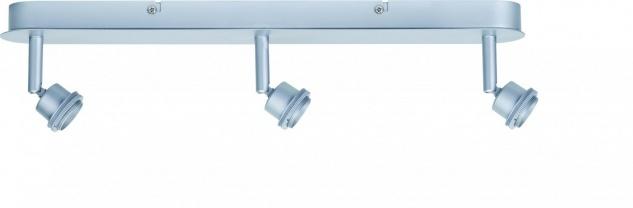 Paulmann Spotlights DecoSystems Balken 3x3W Chrom matt 230V/12V Metall