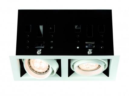 Paulmann 926.68 Premium Einbauleuchte Set Cardano LED 2x4W 230V GU10 Weiß matt Metall