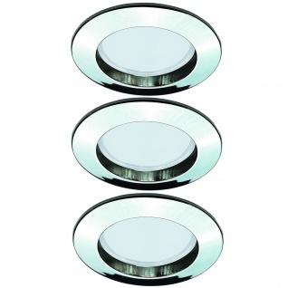 Paulmann 994.83 Premium Einbauleuchte Set starr Energiesparlampe 3x11W 230V GU10 51mm Chrom/Alu Zink