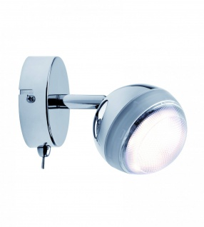 Spotlight Scoop LED 1x4, 6W Chrom 230V Kunststoff