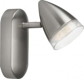 532101716 Philips myLiving LED Wandleuchte Matt chrom 3W Warmweiss entspricht 34W