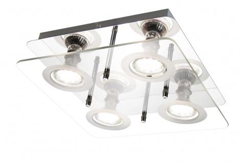 ETT Deckenleuchte 00396 4 x 2, 6W LED GU10 3.000 K 1.000 Lumen Chrom