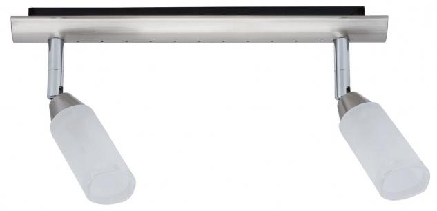 Paulmann 663.39 Spotlights Astrid Balken 2x40W G9 Nickel satiniert/Satin 230V Metall/Glas
