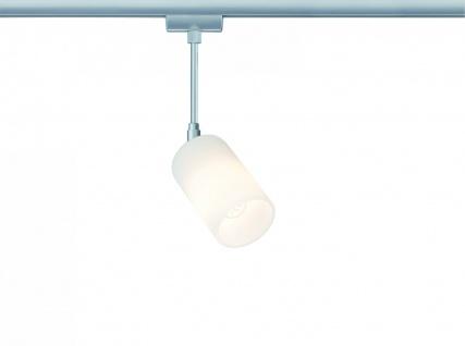 Paulmann 951.17 URail Syst. Light&Easy LED Spot Kundry 1x3W GU10 Chrom matt/Opal 230V Metall/Glas
