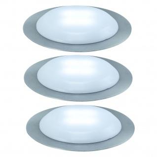 Nice Price Basic Einbauleuchte Set UpDown LED rund 3x0, 3W 230/12V 45mm Satin/Kunststoff