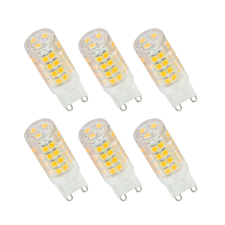 6er Set LED Leuchtmittel 3, 5W G9 3000K Warmweiss 230V 320lm Klar