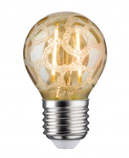 Paulmann 283.83 LED Tropfen 2, 5W E27 230V Krokoeis Gold 2500K