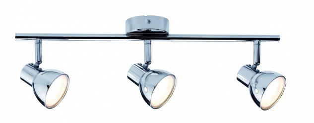 Spotlight Cup LED 3x4, 6W Chrom 230V Kunststoff