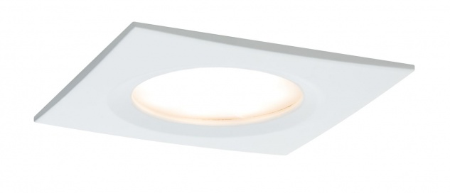 Paulmann 938.89 Premium Einbauleuchte Set Coin Slim dimmbar eckig starr LED 3x6, 8W 2700K 230V 51mm Weiß matt/Alu