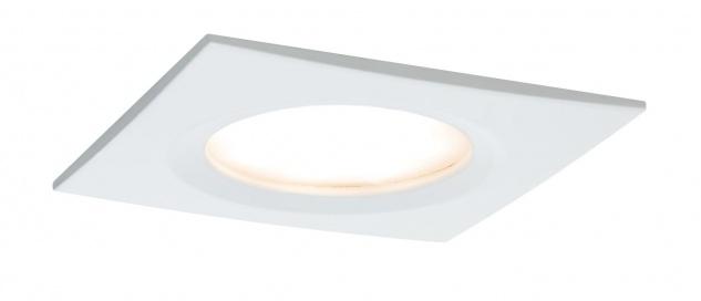 Paulmann Premium Einbauleuchte Set Coin Slim dimmbar eckig starr LED 3x6, 8W 2700K 230V 51mm Weiß matt/Alu