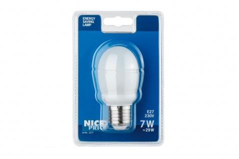 Nice Price 3277 Energiesparlampe Tropfen 7W E27 Warmweiß