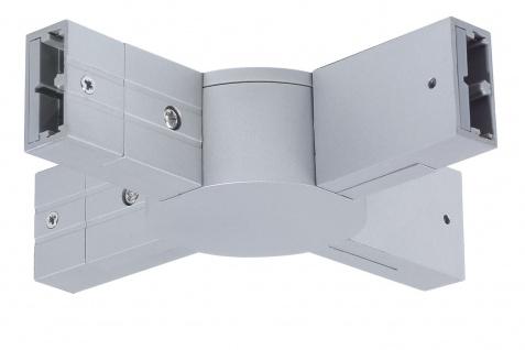 Paulmann 974.95 Schienensystem Light&Easy Phantom X-Verbinder 125mm max.1000W Titan 230V Metall/Kunststoff