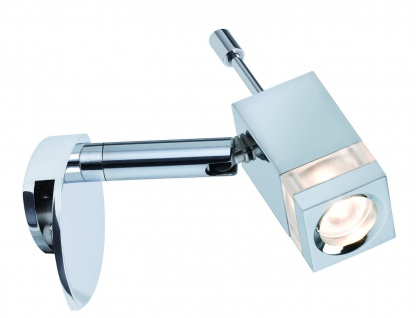 990.71 Paulmann Klemmleuchten Mirror Quadro Spiegelklemmleuchte 1x3W LED Chrom 230V DC 700mA Metall