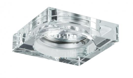 Paulmann 920.82 Premium Einbauleuchte Set Cristal Quadro 3x35W 230V GU10 51mm Klar/Glas