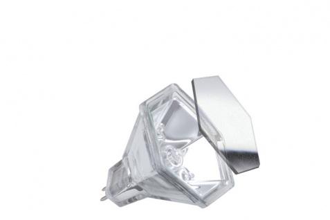 833.47 Paulmann 12V Fassung Halogen Reflektor Hexagonal mit Schutzglas flood 60° 20W GU5, 3 12V 51mm Silber