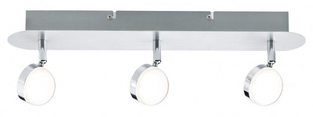 Paulmann Spotlight Hemisphere 3x4, 5W Alu gebürstet/Chrom 230V Metall/Acryl