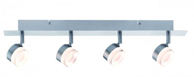 Paulmann 603.80 Spotlight Slice LED 4x4, 3W Eisen gebürstet 230V Metall
