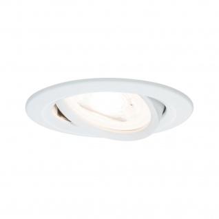 Paulmann Premium Einbauleuchte Set Nova rund schwenkbar LED 3x5, 5W 230V Weiß matt/Alu