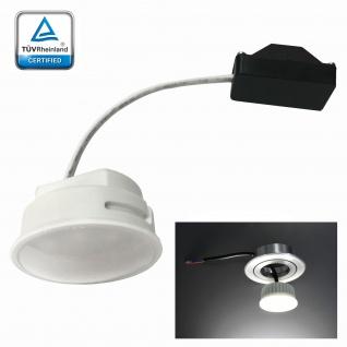 LED Modul Leuchtmittel Satiniert für Einbaustrahler 5W Verbrauch 3000K Warmweiss 230V 400Lumen ersetzt 40W MR16 geringe Einbautiefe