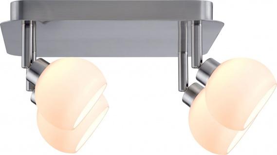 Paulmann 601.53 Spotlights Wolbi Rondell 4x3W Eisen gebürstet/Weiß 230V Metall/Glas