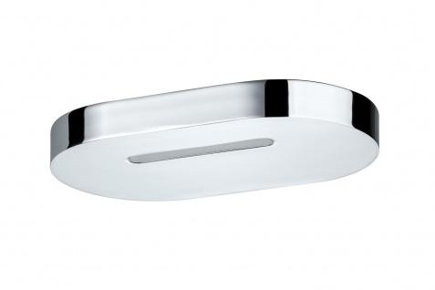 Paulmann 703.95 WallCeiling Belona IP44 10W LED 120x200mm Chrom Satin 230V Alu Acryl