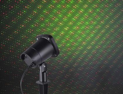 Leuchten Direkt 19940-18 LASER Erdspießleuchte, schwarz 1xLaser 6W grün, rot Aussenleuchte, IP44