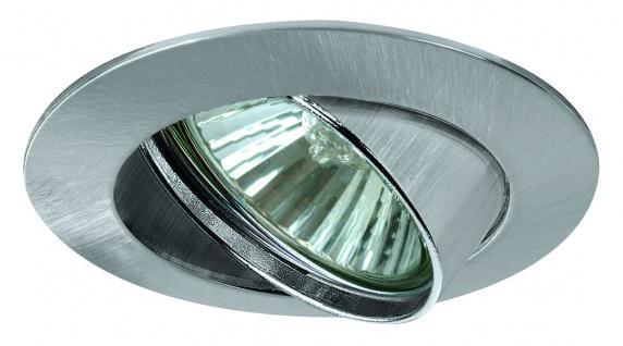 Paulmann 988.78 Premium Einbauleuchte schwenkbar max.50W 230V GU10 51mm Eisen gebürstet/Alu Zink