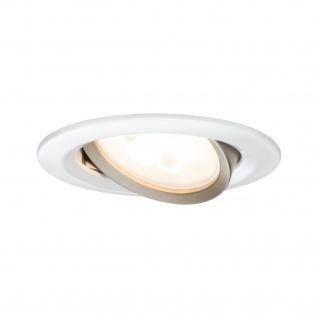 Paulmann 936.50 Premium Einbauleuchte Set Nova rund schwenkbar warm-dimmbar LED GU10 3x5W 230V Weiß matt/ChampGold/A - Vorschau 2