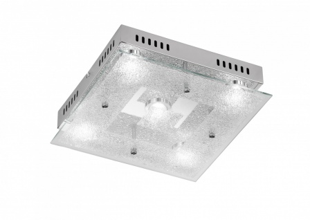 956205010000 Action Deckenlampe Brooks LED Deckenleuchte 5 x 5 W 3.000 K 2.100 Lumen Chrom