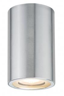 Paulmann Premium Aufbauleuchte Set Alu Barrel IP44 rund 1x4, 5W GU10 84mm Alu eloxiert Alu
