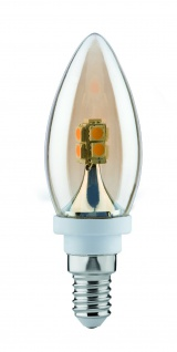 Paulmann LED Kerze 2, 5W E14 230V Gold