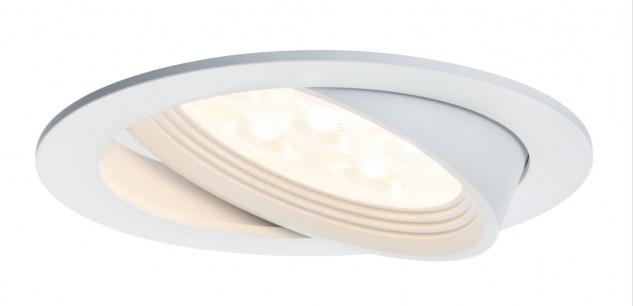 Paulmann Premium Einbauleuchte Albina schwenkbar LED 1x7, 2W 350mA 125mm Weiß matt/Alu