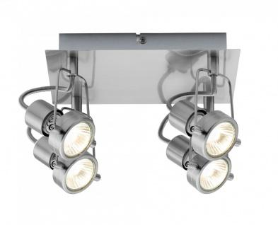 Paulmann 665.42 Spotlight Rondell Techno II 4x40W GU10 Eisen gebürstet 230V Metall